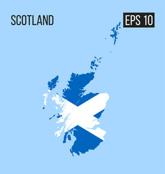 scotland map border with flag eps10 vector image
