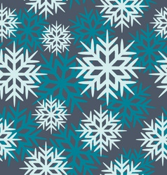 Seamless snowflakes vector image