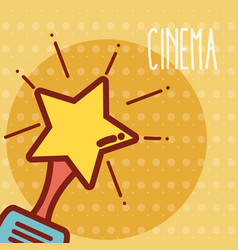 star award cinema cartoon vector image
