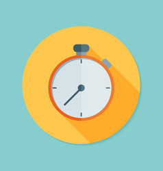 Stopwatch flat icon with long shadow eps10 vector
