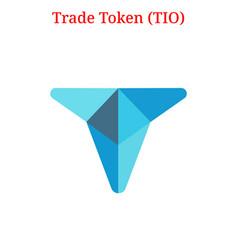 Trade token tio logo vector