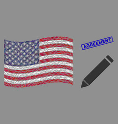 united states flag mosaic edit pencil and vector image