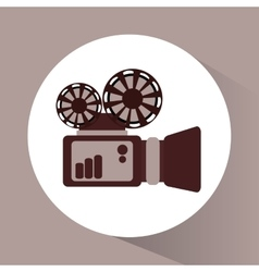 Videocamera and movie design vector