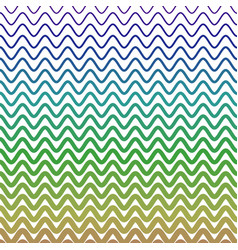 Watery waves forming zigzag pattern in different vector