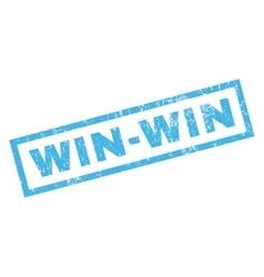 Win-Win Rubber Stamp vector