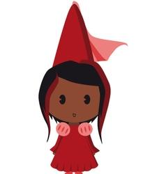 afro american princess vector image