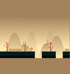 Art mountain scenery backgruond game vector