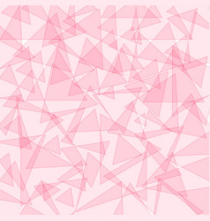 Background template with pink triangle shapes vector