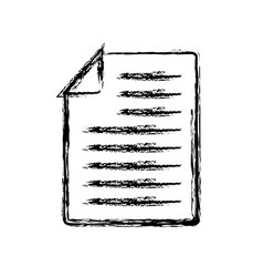 document page icon vector image