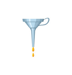 Flat car oil funnel lubricant isolated icon vector