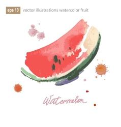 Watercolor of watermelon No transparency Gradients vector image