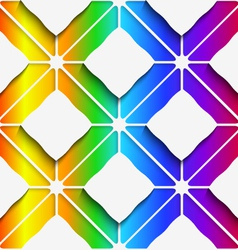 White rectangles ornament on rainbow background vector image vector image