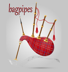 bagpipes wind musical instruments stock vector image