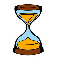 hourglass icon icon cartoon vector image vector image
