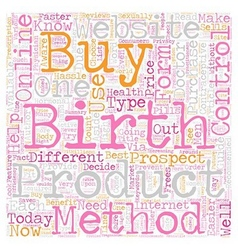 How to Buy Birth Control Online text background vector image
