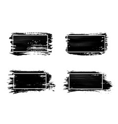 ink brush strokes set acrylic paint with grunge vector image vector image