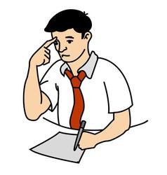 Man Thinking Small vector image vector image