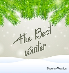 The best winter superior vacation vector image
