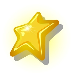 The yellow star on a white background vector image vector image