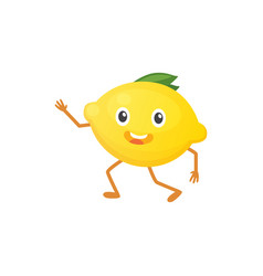 with funny lemon character vector image