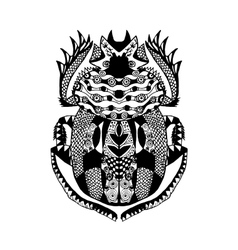 Zentangle stylized scarab Sketch for tattoo poster vector image vector image