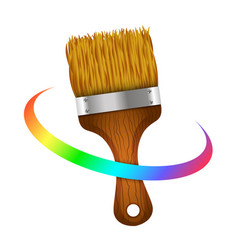 brush for painting symbol vector image vector image