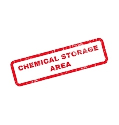 Chemical Storage Area Text Rubber Stamp vector image vector image