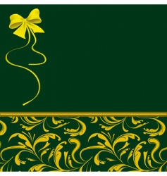green packaging for holiday gifts vector image