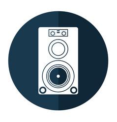 musical speaker audio stereo shadow vector image