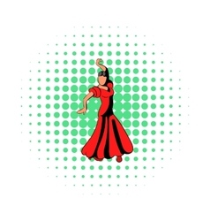 Red dress icon comics style vector image vector image