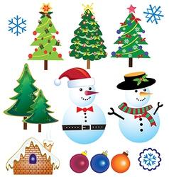 Retro Christmas Element vector image vector image