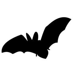 Silhouette of bat vector image