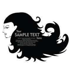 Abstract woman vector image vector image