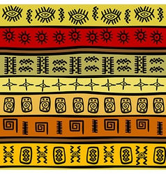African ethnic pattern tribal vector image vector image