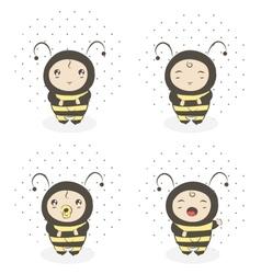 baby bee vector image vector image