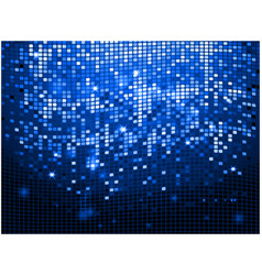 Blue sparkling disco wall background vector image vector image
