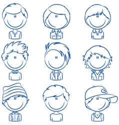 Boys avatar vector image vector image