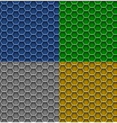 honeycomb patterns vector image