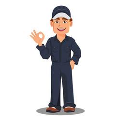 professional auto mechanic in uniform vector image vector image
