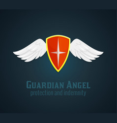 Shield And Wings Icon vector image vector image