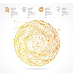 Abstract orange sphere infographics flat vector