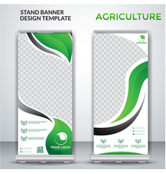 Agriculture roll up banner design vector