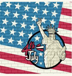 american liberty vector image