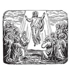 Ascension jesus at mount olives vector