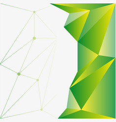 Background template with green and yellow vector