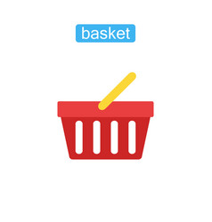 basket store flat icon vector image