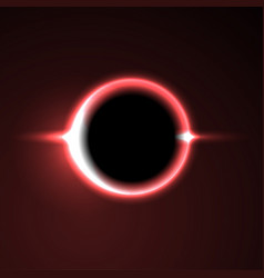 Black hole solar eclipse light vector