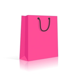 Blank Shopping Bag With Rope Handles Pink Black vector image