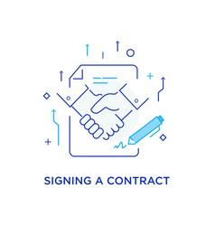 Businessmen shaking hands cooperation interaction vector