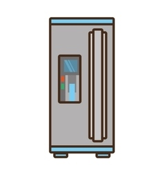 cartoon refrigerator appliance kitchen domestic vector image